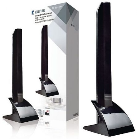 Beltéri DVB-T/T2 - DAB+ Antenna 15 dB VHF / UHF (KNT-DVBT-IN20) RENDELÉSRE !!!!!! 1-2 munkanap