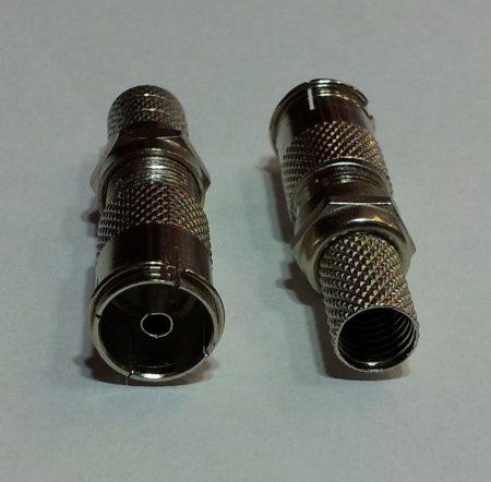 KOAX aljzat fém szerelhető F-véggel RG6 6,0 mm kábelhoz KAPHATÓ !!!!!!!