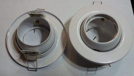Beépíthető lámpatest billenő, fém, fehér, halogénhez vagy LED-hez foglalat nélkül AKCIÓS !!!!!! (DL56WH)