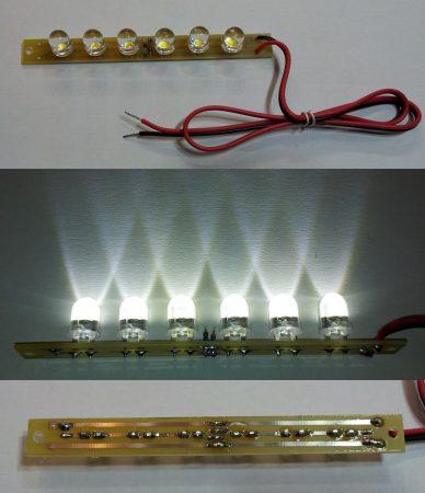 LED moduli fény betét 192 lumen 30fok hideg-fehér 12-14,5V KIFOGYOTT !!!!