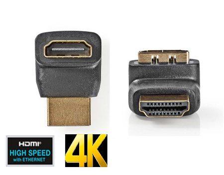 HDMI 270 fokos adapter, aranyozott, 4K (CVGP34902BK) AKCIÓS !!!!! RENDELÉS ALATT !!!!