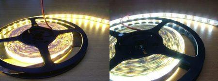 3528 SMD Beltéri LED szalag, IP20, természetes fehér,60Led/méter (SKU 2041) AKCIÓS !!!!! KÜLSŐ RAKTÁRON !!!! 3-4 munkanap