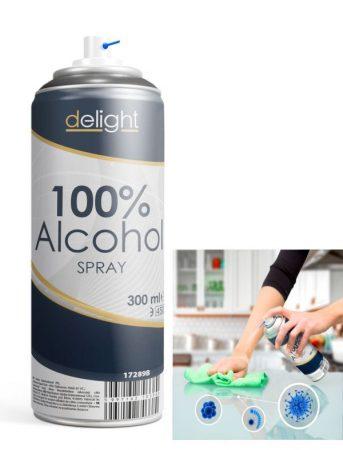 100% Alkohol spray - 300 ml KÜLSŐ RAKTÁRON !!!! 3-4 munkanap
