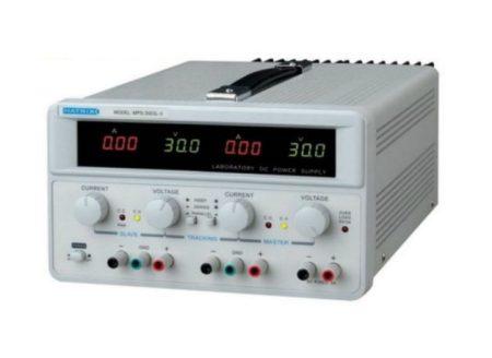 Laboratóriumi tápegység, 2x30V 2x5A, 1x5V fix 3A (MPS-3005L-3) RENDELÉSRE !!!!!! 3-4 munkanap (előre utalással)