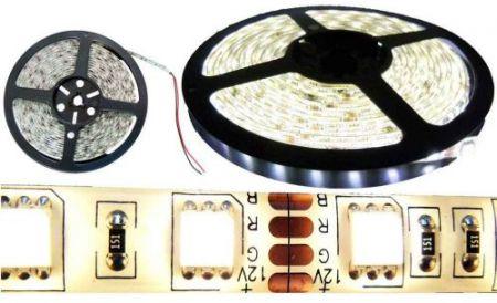 5050 SMD LED szalag, IP20 beltéri, hideg fehér, 60Led/méter, RENDELÉSRE !!!!! 2-3 munkanap