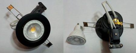 GU10 COB 6W 100-250V ̴ 50/60Hz 3000K meleg-fehér 480 lumen !!! + 1db GU10 FEKETE lámpatest AKCIÓS !!!!!! KAPHATÓ !!!!!