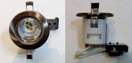 Beépíthető lámpatest GU10 halogénhoz vagy LED-hez Matt króm szín  AKCIÓS !!!!!! KAPHATÓ !!!!!!