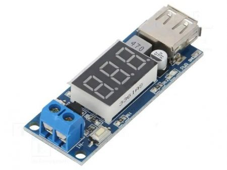 Step-down Konverter USB kimenet 5V 2A -  bemenet: 4,5-40V KAPHATÓ !!!!!!!