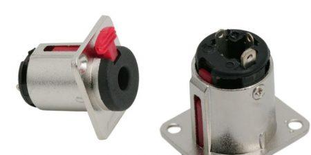 6,3mm jack sztereó fém beépíthető aljzat biztonsági zárral KÉSZLETHIÁNY !!!!!!!