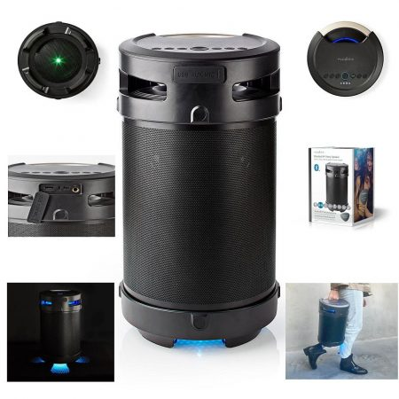 Bluetooth® Partyhangszóró, 3,5 Óra Lejátszási Idő, 150 W, IPX5 Vízálló, TWS, Fogantyú, Partyfények, Fekete (SPBB350BK) KÜLSŐ RAKTÁRON 1-2 munkanap (előre utalással)