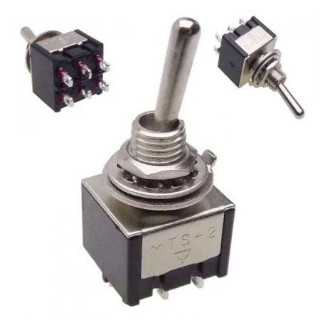 Karos kapcsoló 3 állású 2 áramkör 3A 250V KAPHATÓ !!!!!!