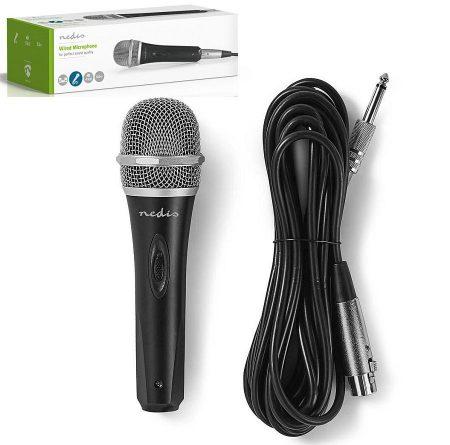 Vezetékes mikrofon, Levehető Kábel 5.00 m, 50 Hz - 15 kHz, 600 Ohm, Fém, Fekete/Szürke (MPWD50BK) KÜLSŐ RAKTÁRON !!!! 2-3 munkanap