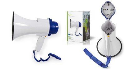 Megafon, hangosbeszélő, 10 W, 250 m-es Hatótávolság, Beépített Mikrofon, Fehér / Kék (MEPH150WT) KÜLSŐ RAKTÁRON !!!!! 1-2 munkanap (Előreutalással)