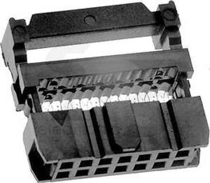 Szalagkábel csatlakozó 2x13p, economy, fekete (40662)
