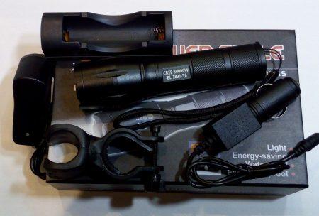 POWER T6 CREE LED-es LÁMPA állítható fókusz, akkumulátor, biciklis konzol, max 975 lumen!!!! AKCIÓS !!!! RENDELÉS ALATT !!!!!!