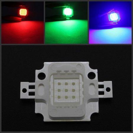 10W HIGH RGB POWER LED AKCIÓS !!!!!! RENDELÉS ALATT !!!!!!