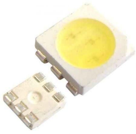 SMD 5050 tokban SMD LED meleg-fehér 60mA 13 lumenes !!!!!!! AKCIÓS !!!!! KAPHATÓ !!!!!
