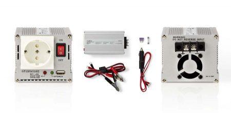 Inverter 12 - 230 V 300 W USB csatlakozóval (HQ-INV300WU-12) RENDELÉSRE !!!! 2-3 munkanap (előre utalással)