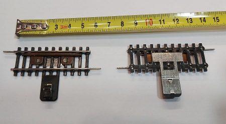 TT vasútmodell sín rövid leválasztó 2-es verzio, 2db 5,5cm párban eredeti felújított KAPHATÓ !!!!!