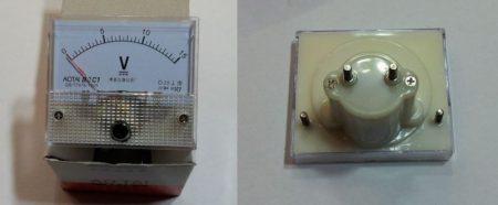 Analóg feszültségmérő egyenáramú DC 0-15V AKCIÓS !!!!! KAPHATÓ !!!!!!