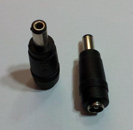 DC átalakító adapter 5,5/2,0mm dugó - 5,5/2,1 aljzat KAPHATÓ !!!!!