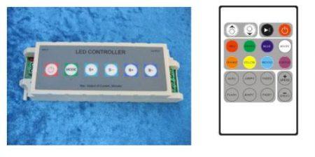 PROFI RGB vezérlő 21 féle fényeffekt 6plusz 20gombos (rádiós vezérléssel is) AKCIÓS !!!!! KIFOGYOTT !!!!!!