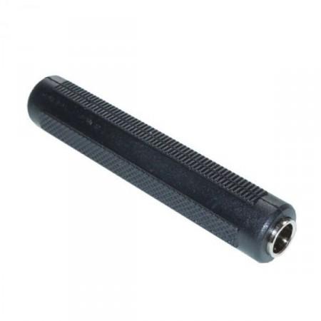 6,3mm-es sztereó jack toldó. Fekete színben. (aljzat-aljzat) 4027 KIFOGYOTT !!!!
