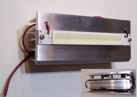 15W HIGH POWER LED meleg-fehér + hűtőborda 915 lumen !!!!! AKCIÓS !!!! KAPHATÓ !!!!!!