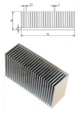 Hütőborda POWER LED-ekhez L=40mm 76x26mm (65669) RENDELÉS ALATT !!!!!