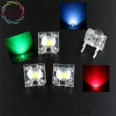 RGB négylábas flux LED 8x8mm AKCIÓS !!!! KIFOGYOTT !!!!!