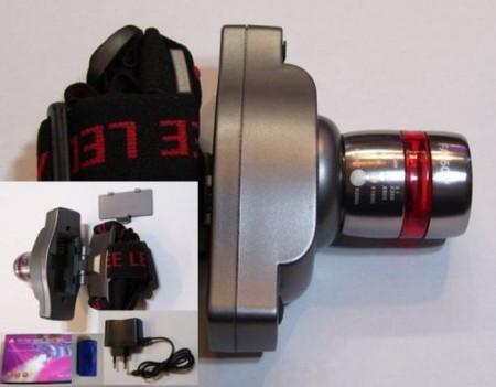 Fejlámpa 3W-os POWER LED-el - Zoom funkcióval 180 lumen AKCIÓS !!!!!! RENDELÉS ALATT !!!!!