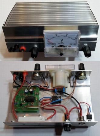 Mini labortápegység kit szerelve 0-30V 3A voltmérővel (3.ver) AKCIÓS !!!! KIFOGYOTT !!!!!