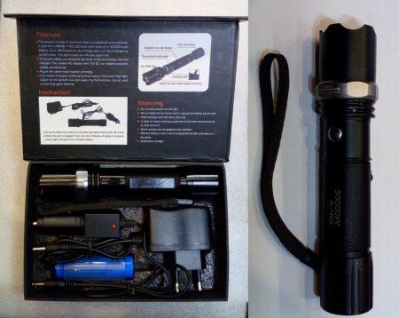 POWER CREE LED-es LÁMPA állítható fókuszal 280 lumen!!!! töltővel, akkumulátorral, szettben AKCIÓS !!!! RENDELÉSRE !!!!!!