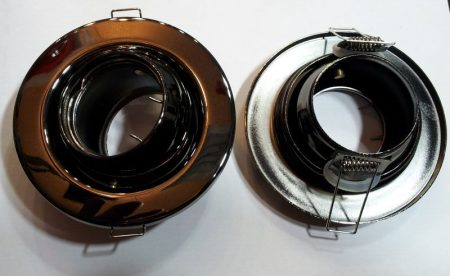 Beépíthető lámpatest billenő ,fém, bronz, halogénhez vagy LED-hez MR16-os foglalat nélkül AKCIÓS !!!!!! (DL56/BN)