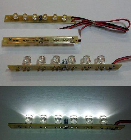 LED moduli fény betét 168 lumen 100fok hideg-fehér 12-14,5V KIFOGYOTT !!!!!