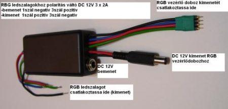 RGB LED-szalag vezérlőhöz polaritás váltó AKCIÓS !!!!! KAPHATÓ !!!!