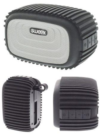 Bluetooth Hangszóró 4 W Beépített Mikrofon Fekete/Ezüst (SWBTSP200BL) AKCIÓS !!!!!! KAPHATÓ !!!!!!