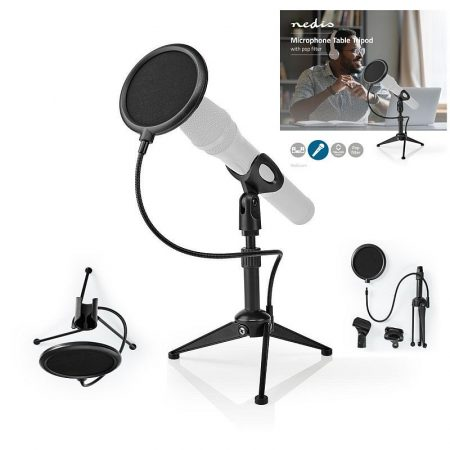 Mikrofontartó Asztali Állvány (MPST01BK) RENDELÉSRE !!!! 2-3 munkanap