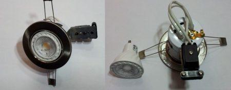 GU10 COB 6W 100-250V ̴ 50/60Hz 3000K meleg-fehér 480 lumen !!! + 1db GU10 INOX (matt króm) lámpatest AKCIÓS !!!!!! KAPHATÓ !!!!!!