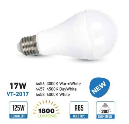 E27 LED lámpa 17 Watt (200°) - Körte meleg fehér 1800 lumen!!!!! (SKU 4456) AKCIÓS !!! RENDELÉSRE !!!!!!