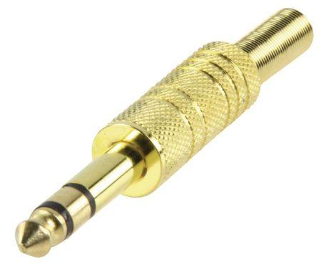 6,3mm-es sztereó jack dugó, aranyozott fém (JC-033) RENDELÉS ALATT !!!!!