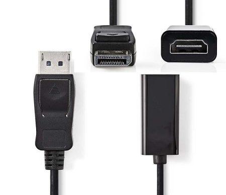 DisplayPort dugó - HDMI™ aljzat kimenet, 0,2 m, Fekete (CCGP37150BK02) AKCIÓS !!!!! KAPHATÓ !!!!!!