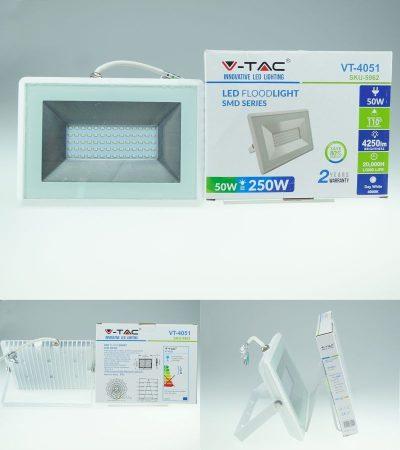 V-TAC E-Series-W LED reflektor (50 Watt/110°) Természetes fehér 4250 lumen !!! (SKU 5962) RENDELÉSRE !!!!!! 3-4 munkanap !!!!!