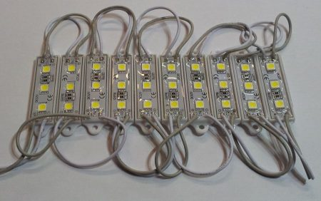 Led modul 3 ledes SMD5050 MELEG-FEHÉR IP65 60 lumen!!!!! KAPHATÓ !!!!!!