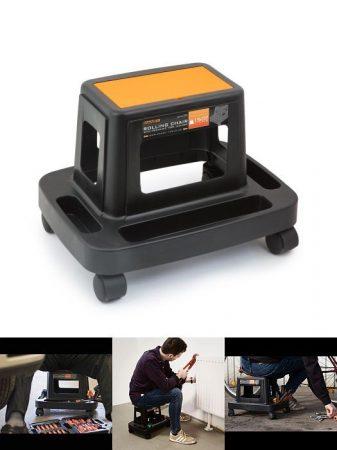 Gurulós szék szerszámtartóval - műanyag  (10998) RENDELÉSRE !!!!! 3-4 munkanap