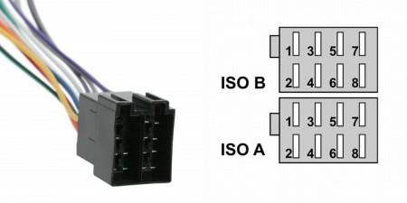 ISO csatlakozó dugó pár, hangfal és tápegység oldal, csak dugó sarukkal kábel nélkül. KAPHATÓ !!!!!