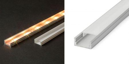 LED aluminium profil opál takaró búra U alakú profilhoz 1m (41010M1) KAPHATÓ !!!!!!