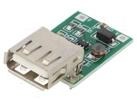 DC - DC Konverter, step up, kimenet USB 5V 600mA - bemenet 0,9-5V (pl: Li-Ion akku, vagy AA elem), 96% hatásfok KAPHATÓ !!!!!!
