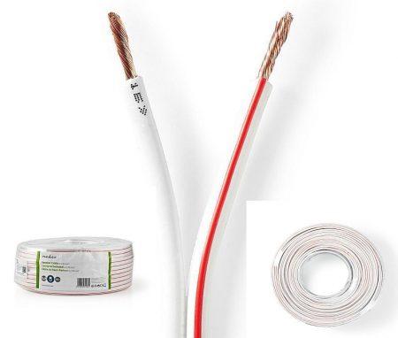 Fehér hangszóró kábel 2*2,5mm2 (CAGW2500WT1000) AKVIÓS !!!!!!! KAPHATÓ !!!!!!!