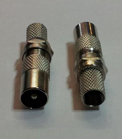 KOAX dugó fém szerelhető F-véggel 7,5 mm kábelhoz AKCIÓS !!!! KAPHATÓ !!!!!!!